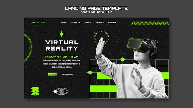 Szablon sieciowy wirtualnej rzeczywistości