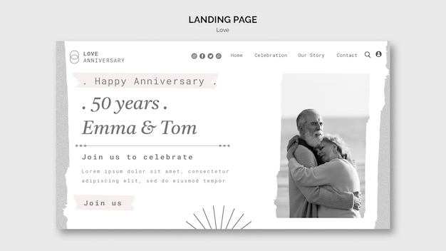 Szablon sieciowy z okazji rocznicy pary