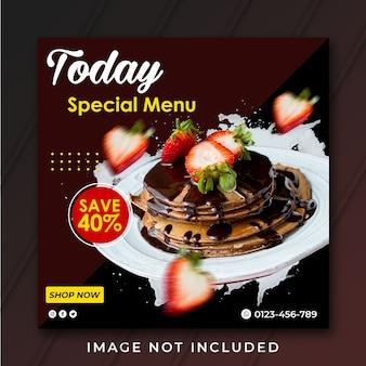 Szablon specjalnego menu szablon banera