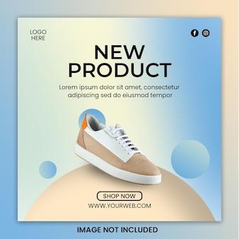 Szablon sprzedaży butów na instagramie w mediach społecznościowych