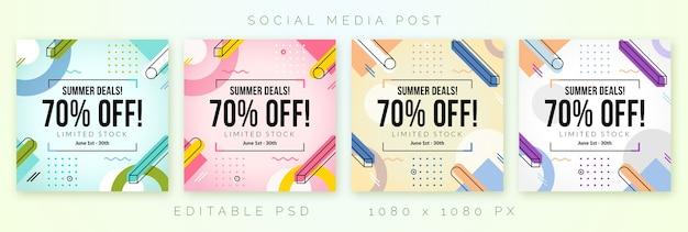 Szablon sprzedaży dla postu banner w mediach społecznościowych