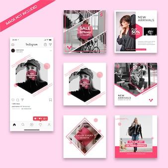 Szablon sprzedaży instagram post mody