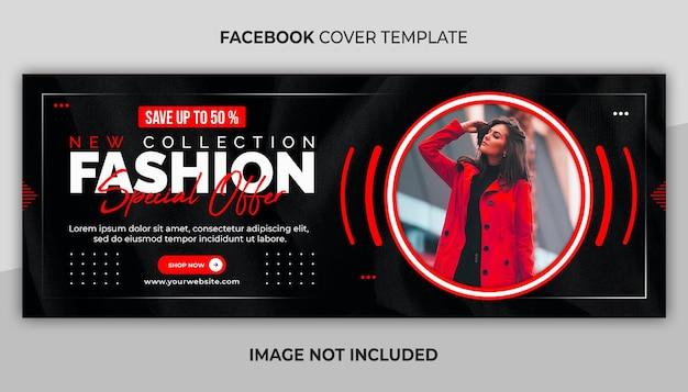 Szablon sprzedaży mody na facebooku w mediach społecznościowych