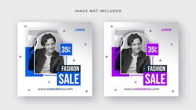 Szablon sprzedaży mody na post w mediach społecznościowych