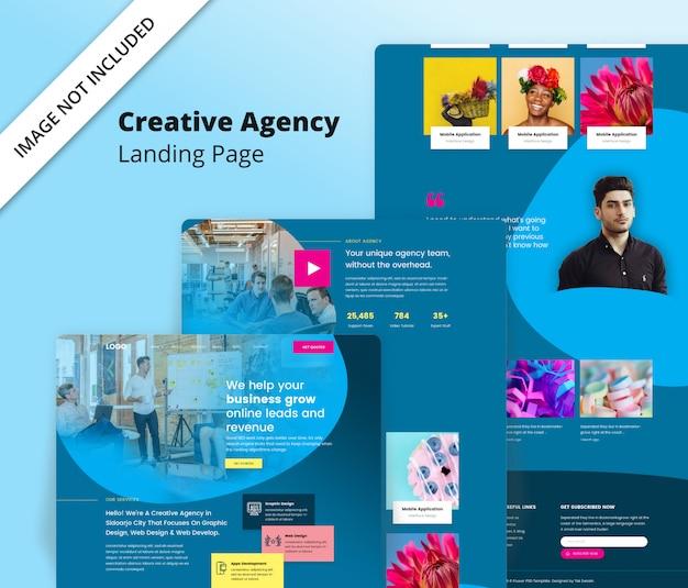 Szablon strony docelowej agencji kreatywnej