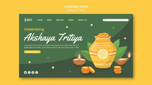 Szablon strony docelowej akshaya tritiya