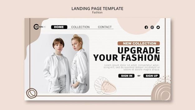 Szablon strony docelowej aktualizacji mody