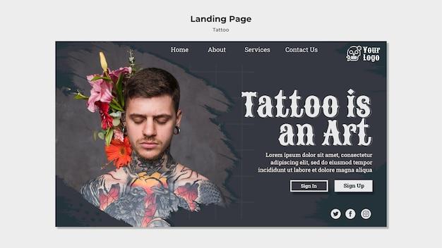 Szablon strony docelowej artysty tatuażu