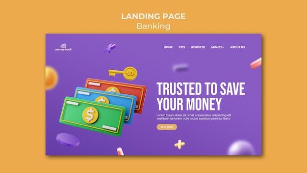 Szablon strony docelowej dla bankowości internetowej i finansów