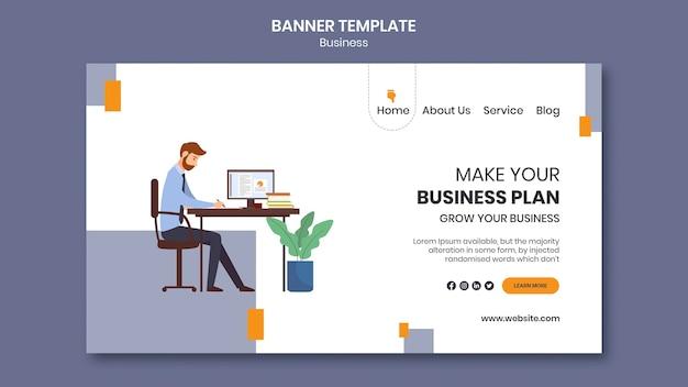Szablon strony docelowej dla firmy z kreatywnym biznesplanem