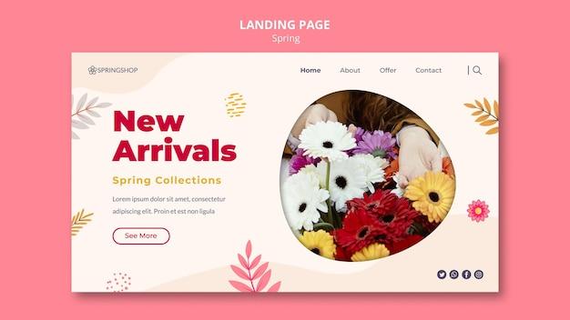 Szablon strony docelowej dla kwiaciarni z wiosennymi kwiatami