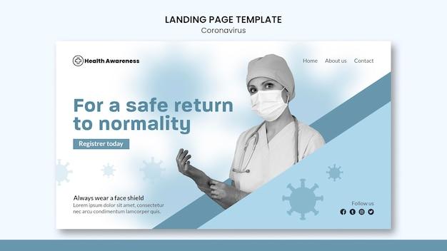 Szablon strony docelowej dla pandemii koronawirusa