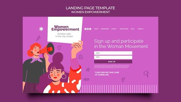 Szablon strony docelowej dla wzmocnienia pozycji kobiet
