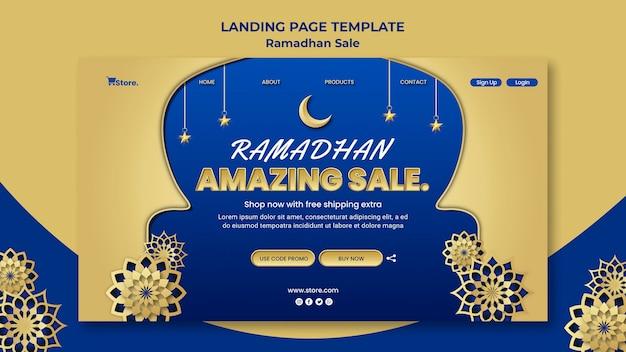Szablon strony docelowej do sprzedaży w ramadanie