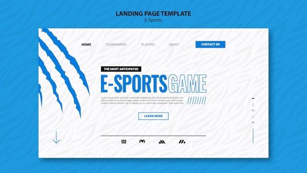 Szablon strony docelowej e-sportu