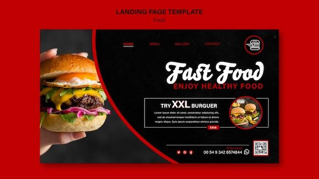 Szablon strony docelowej fast food