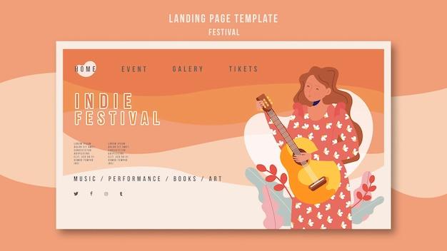 Szablon strony docelowej festiwalu