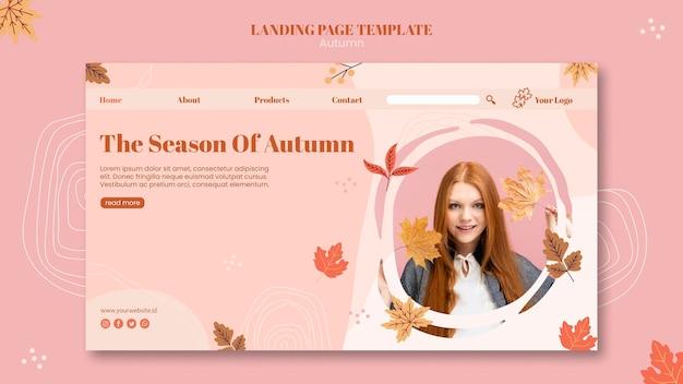 Szablon strony docelowej jesień koncepcja