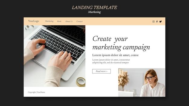 Szablon strony docelowej kampanii marketingowej