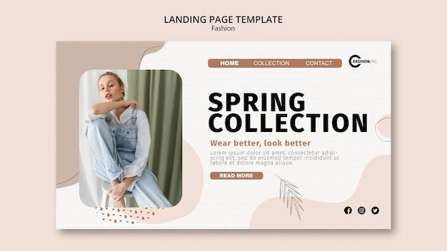Szablon strony docelowej kolekcji wiosennej