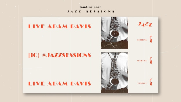Szablon strony docelowej koncepcji jazzu