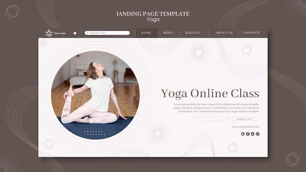 Szablon strony docelowej koncepcji jogi