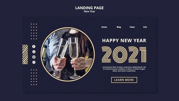 Szablon strony docelowej koncepcji nowego roku
