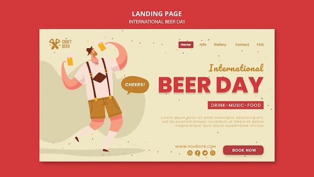 Szablon strony docelowej międzynarodowego dnia piwa