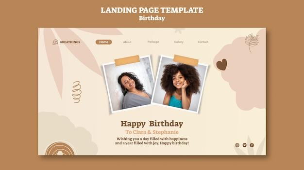 Szablon strony docelowej na obchody urodzin