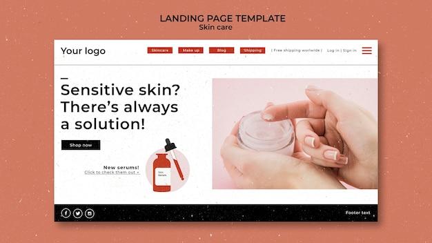 Szablon strony docelowej produktów do pielęgnacji skóry