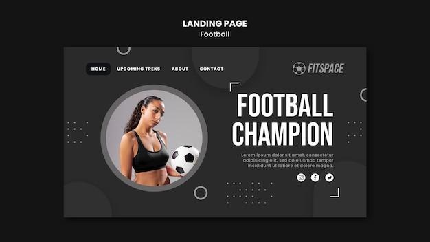 Szablon strony docelowej reklamy piłki nożnej