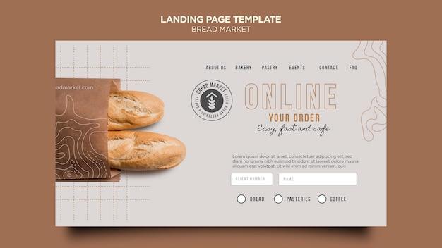 Szablon strony docelowej rynku chleba