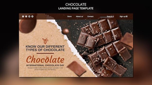 Szablon strony docelowej sklepu z czekoladą