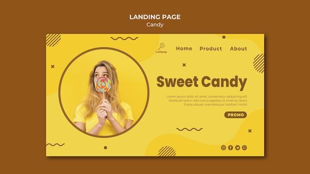 Szablon strony docelowej sklepu ze słodyczami