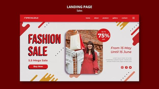 Szablon strony docelowej sprzedaży mody