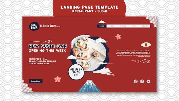 Szablon strony docelowej sushi