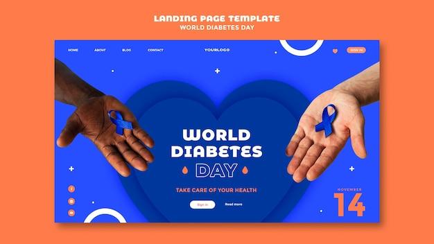 Szablon strony docelowej światowego dnia cukrzycy