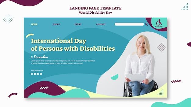 Szablon strony docelowej światowego dnia niepełnosprawności