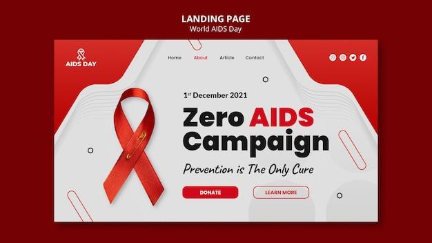 Szablon strony docelowej światowego dnia pomocy