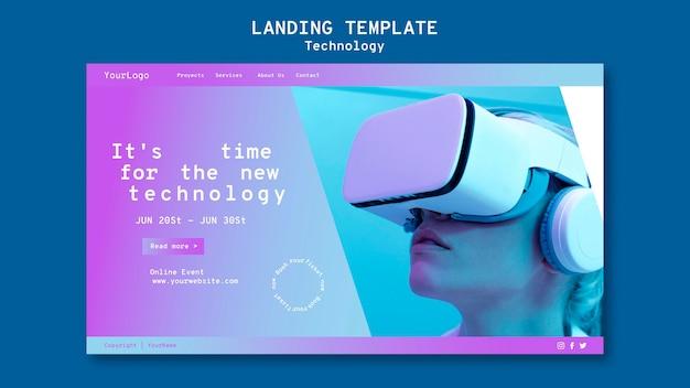 Szablon strony docelowej wirtualnej rzeczywistości