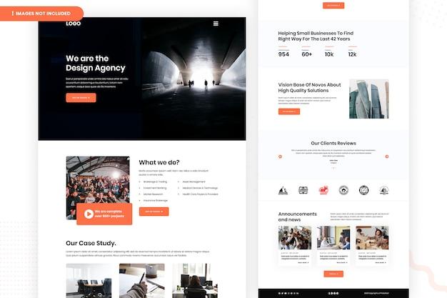 Szablon strony internetowej agencji projektowej