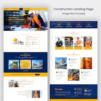 Szablon strony internetowej budowy