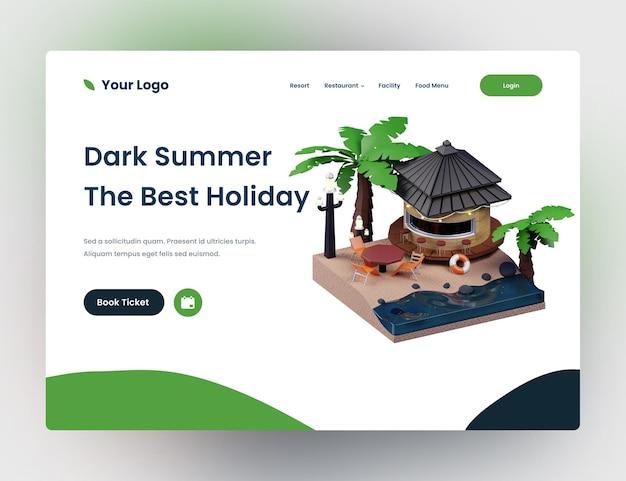 Szablon strony internetowej ciemnych wakacji