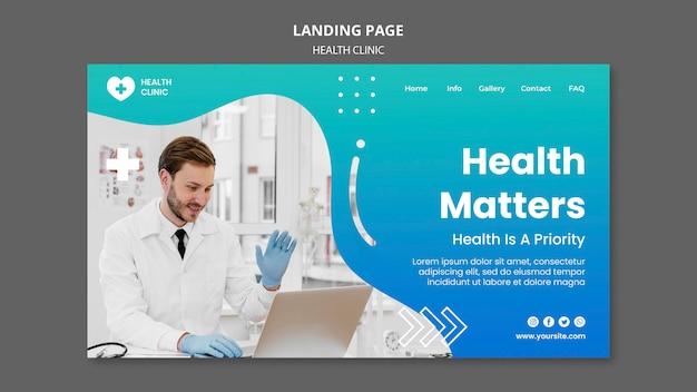 Szablon strony internetowej kliniki zdrowia