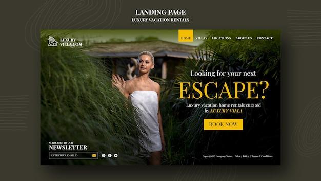 Szablon strony internetowej luksusowego wynajmu wakacyjnego