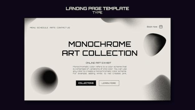 Szablon strony internetowej monochromatycznej sztuki