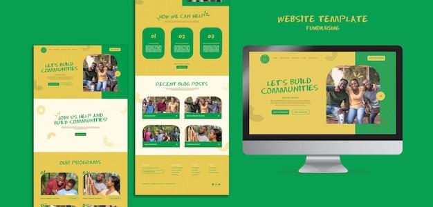 Szablon strony internetowej pozyskiwania funduszy