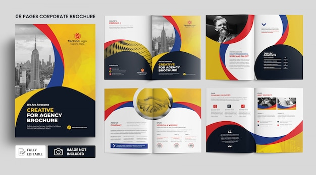 Szablon strony korporacyjnej firmy profil broszura