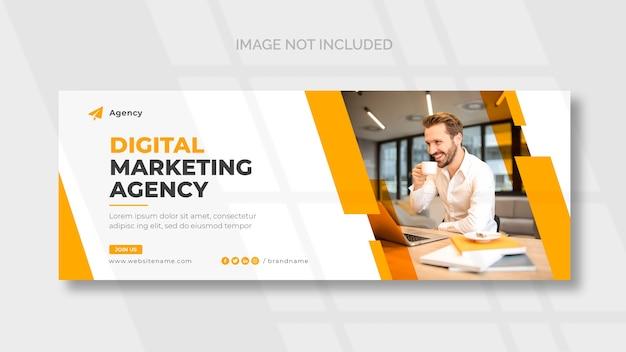 Szablon strony tytułowej na facebooku do marketingu cyfrowego