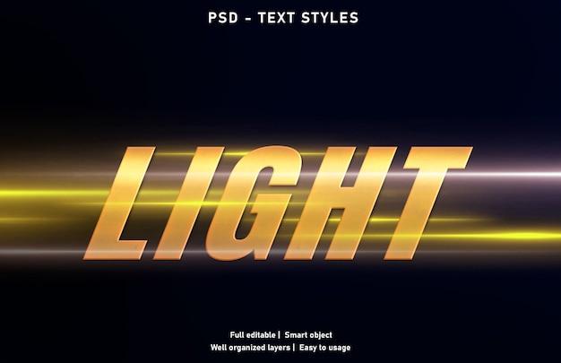 Szablon stylu efektów świetlnych
